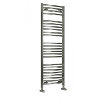 300mm Wide 1200mm High Flat Chrome Towel Radiator
