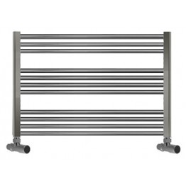 750mm Wide 600mm High Towel Radiator Chrome Straight