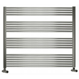 750mm Wide 1100mm High Towel Radiator Chrome Straight