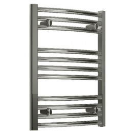 600mm Wide 600mm High Small Towel Radiator Flat Chrome