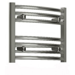 600mm Wide 400mm High Small Towel Radiator Curved Chrome
