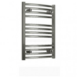 750mm / 800mm Towel Radiator Chrome Curved