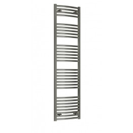 700mm Wide 1300mm High Towel Radiator Chrome Curved