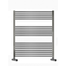 750mm Wide 1000mm High Towel Radiator Chrome Straight