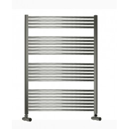 700mm Wide 1200mm High Towel Radiator Chrome Curved