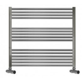 700mm Wide 800mm High Towel Radiator Chrome Curved