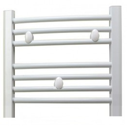 650mm Wide Small Narrow Towel Radiator White Flat